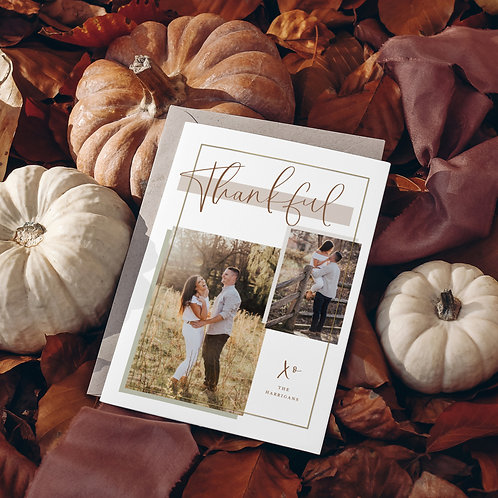 Thankful Foil Photo Collage Card