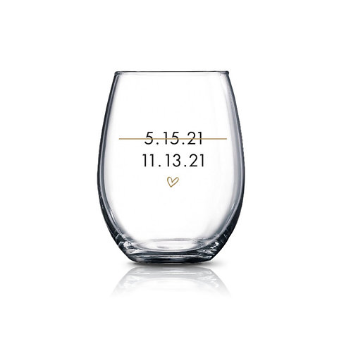 New Date Wine Glass
