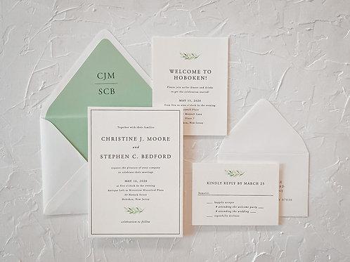 The Christine Greenery Letterpress Suite