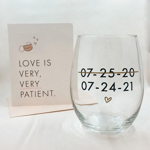 New Date Wine Glass