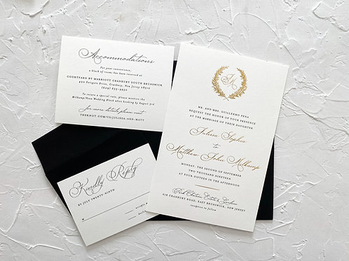 The Julissa Formal Foil & Thermography Suite