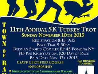 Ramapo 5K Turkey Trot Nov 10th to benefit Lindsey Stewart & Mark Lennon Memorial Fund