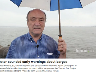 Emails from concerned boater warned authorities of poor lighting on Hudson barges