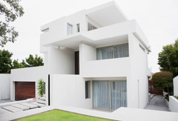 Peinture façade Maison moderne blanc
