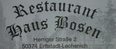 Restaurant Haus Bosen