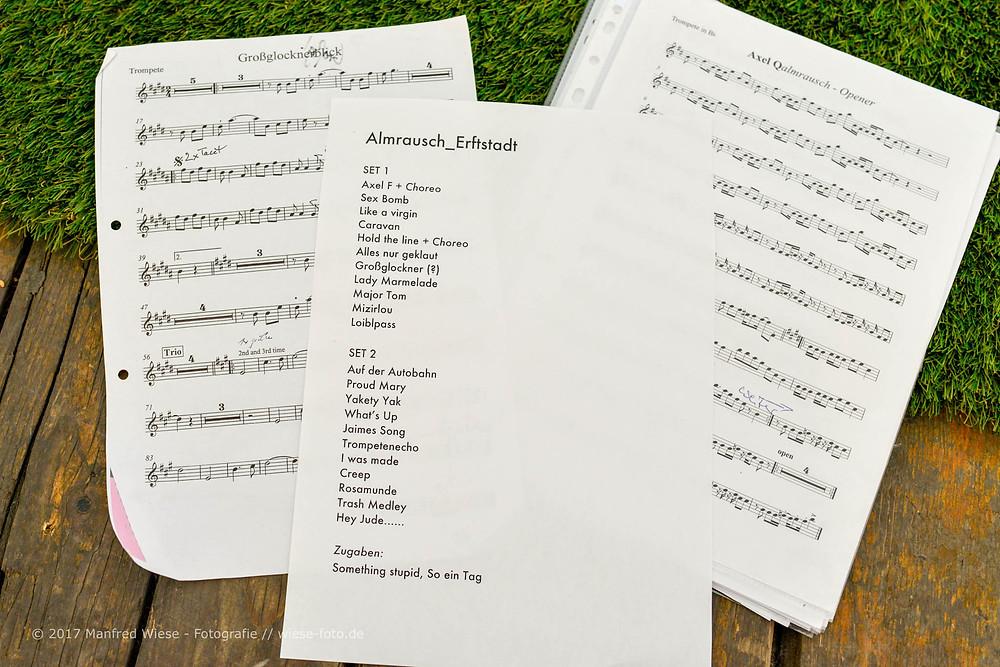 Songliste Almrausch