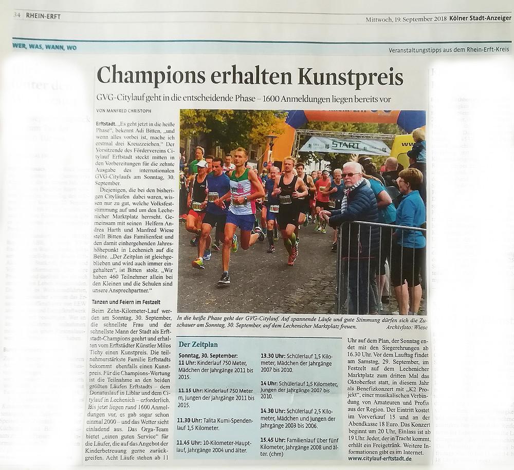 Bericht Kölner Stadtanzeiger vom 19.09.2018