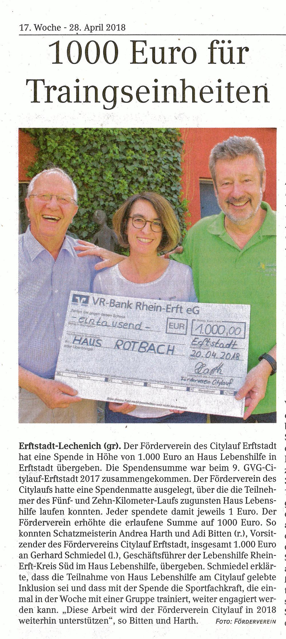 Werbepost - Erftstadt Anzeiger Ausgabe vom 28.04.2018