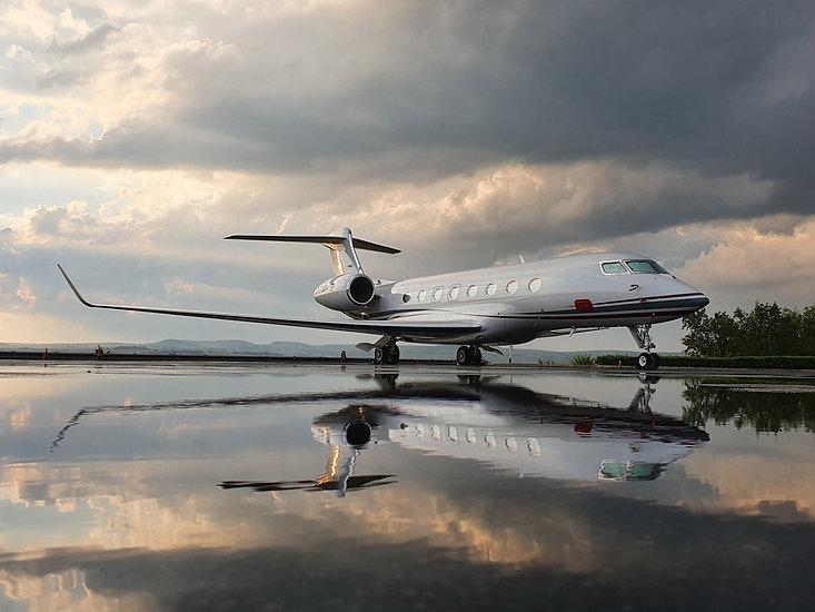 Holiday Luxury Gulfstream G650 after a b