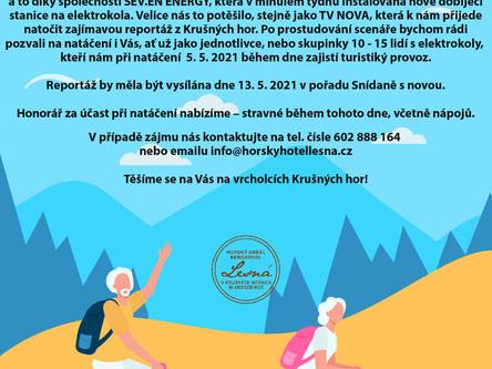 Natáčení v Lesné - 5. 5. 2021