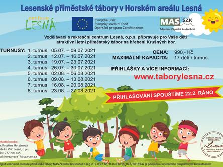 Příměstské tábory 2021 na Lesné