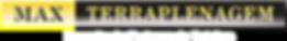 Marca Site Maxterraplenagem letra branca