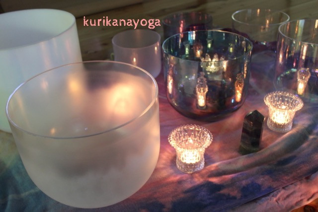 crystal bowl & candle