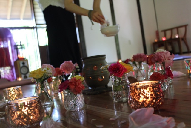 flower & candle