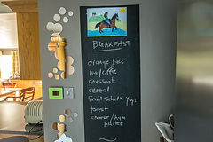 Picture of our lovely breakfast menu