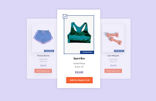 exercise products on the Modalyst dropshipping marketplace