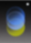 Multiple circles overlapping each other in tones of blue and yellow