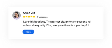 Google business profile review