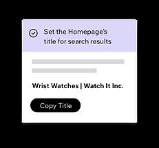 Wix SEO Wiz, установка SEO-заголовков для вашей домашней страницы