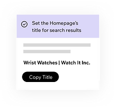 Wix SEO Wiz, setting SEO titles for your homepage