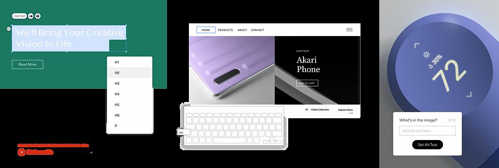 Configuración de encabezados y alt text para la accesibilidad de los sitios web.