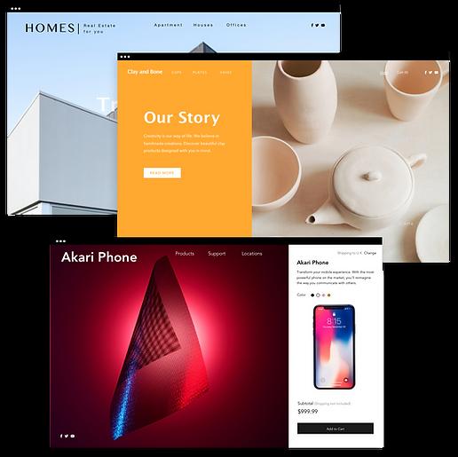 3 web sitesinin ana sayfası.