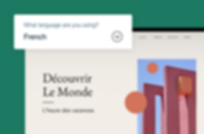 A French website being edited inside the Wix Editor