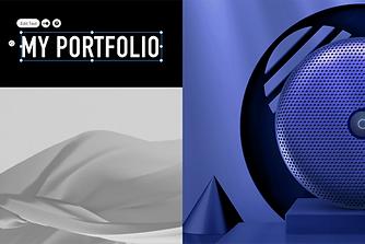 Portfolio-Website die im Editor von Wix bearbeitet wird.