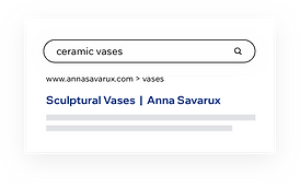 "Google results for a search query on ""ceramic vases"""