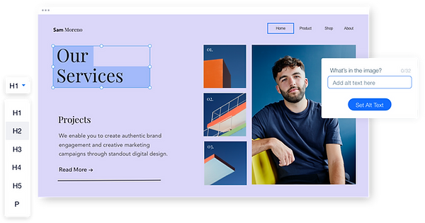 Showcase of Wix Accessibility features