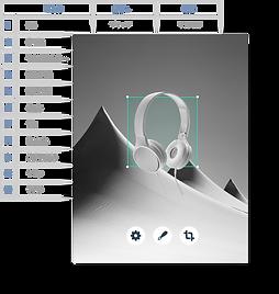 Velo by Wix で構築された商品情報のデータベース。