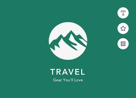 Imagem de um logo criado com Wix