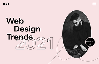 A website for web design trends in 2021.