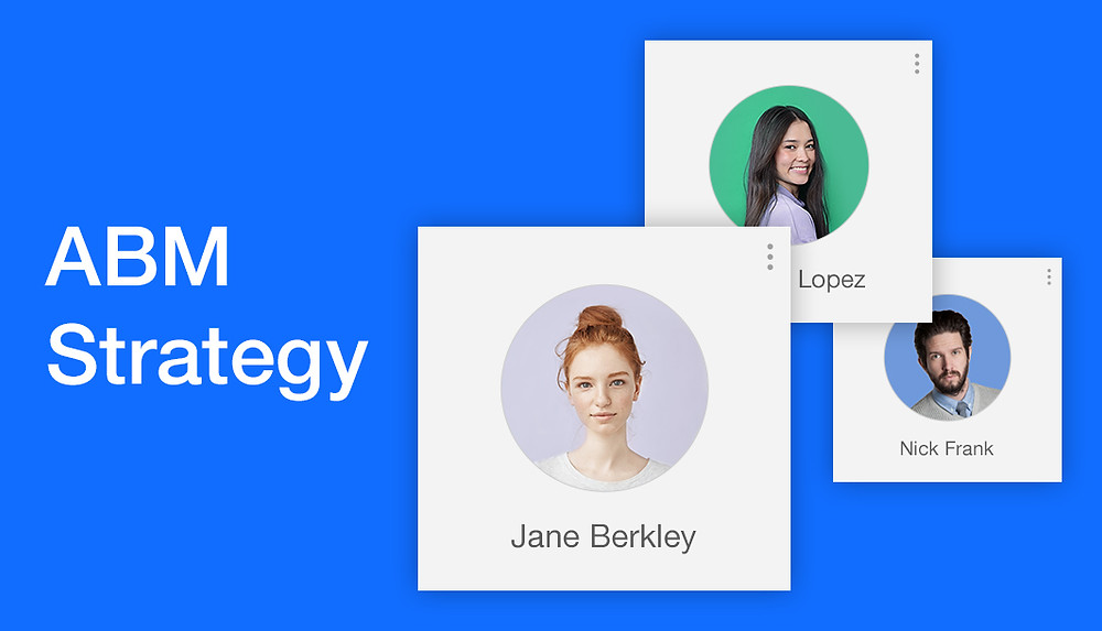 Account profile pictures on a blue background