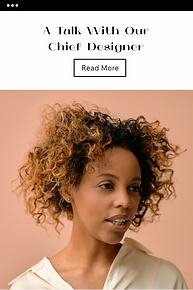 Email campaign template featuring a portrait of an African-American woman.