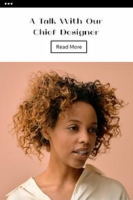 Skabelon til e-mailkampagne, der viser et portræt af en afroamerikansk kvinde.