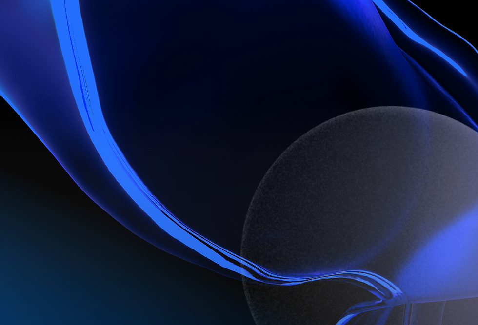 Abstract background image with a dark circle and streaks of electric blue
