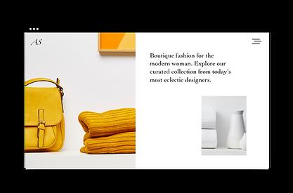 Fashion boutique website