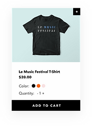 A website created for a music festival on Wix showcasing events, eCommerce, mobile and blog capabilities.