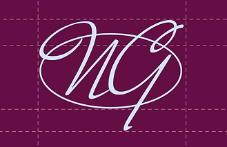 Stylized initials on a business card design.