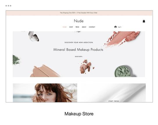 Makeup Store Template
