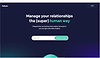 Website thumbnail for a website analytics tool called Fathom. Descriptive text over a blue gradient background cover the homepage.