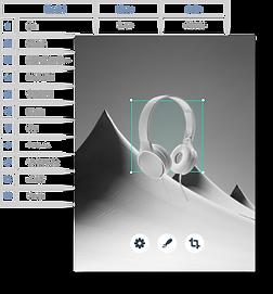 Een database met informatie gebouwd met  Velo by Wix