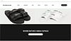 Website thumbnail for streetwear brand Severe Nature, based in Nigeria. Two images of black and white sandals, and title text cover the homepage.