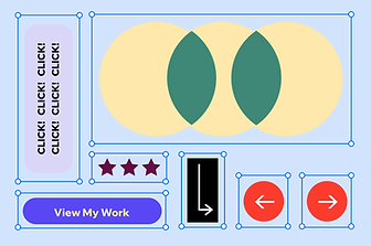 Beispiel einer Portfolio-Vorlage von Wix.