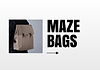 One box of the Layouter with a close up image of a backpack with the brand name: Maze Bags