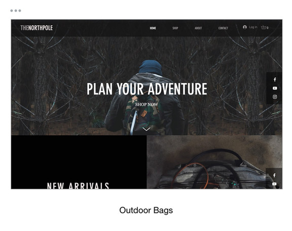 Outdoor Bags Template