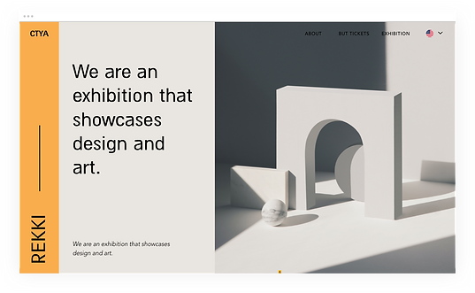Website for an art and design exhibition