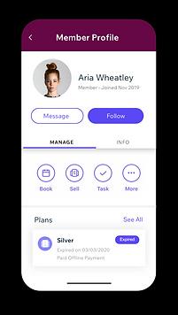 Wix ブッキングの顧客管理ツールを導入したバレエ教室のサイトの画像