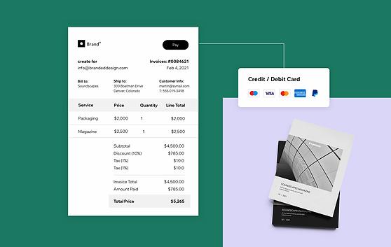 Odesílejte zákazníkům profesionální faktury s vaším logem a odkazem pro zaplacení na vašem webu.